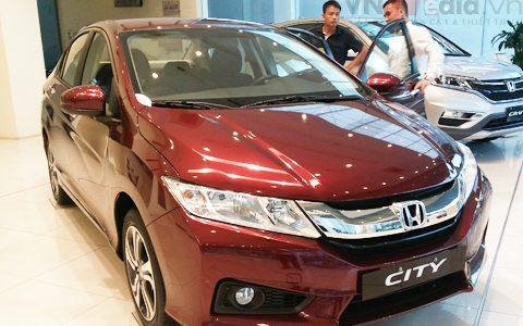 Honda city 2015 cvt co gia 604 trieu dong