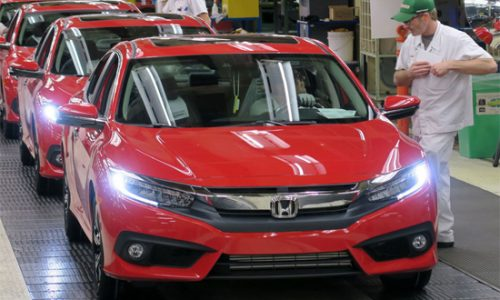Honda Civic 2016 bat dau duoc san xuat