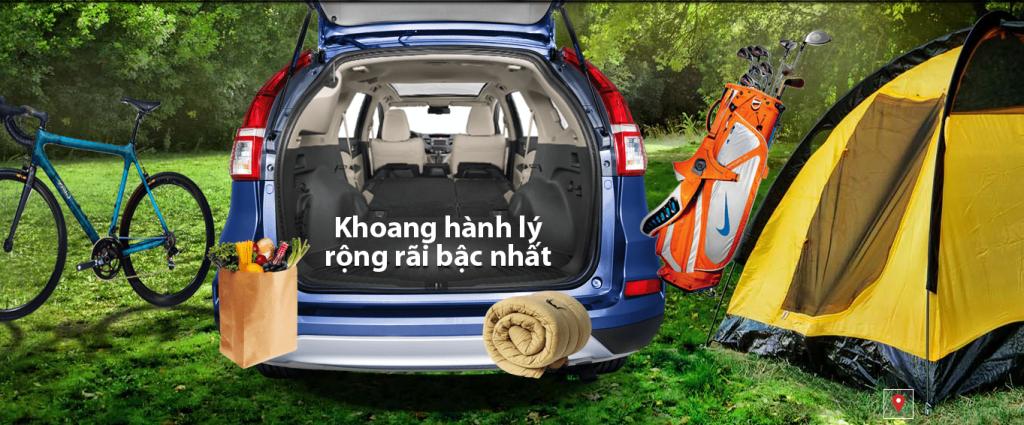 Khoang hanh ly rong cua Honda CRV 2016