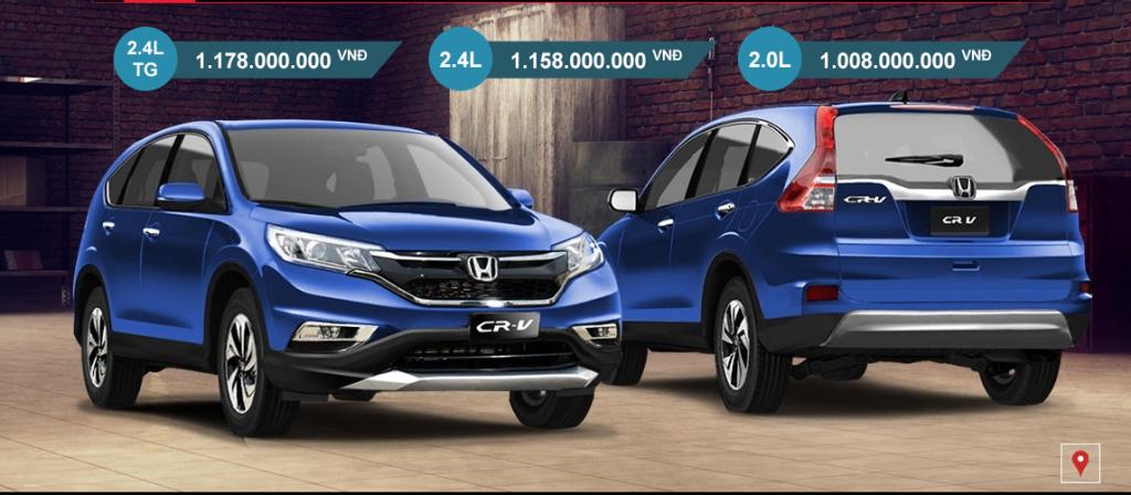Gia xe Honda CRV 2016