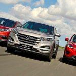 So sánh 3 xe Hyundai Tucson cùng Honda CRV và Mazda CX5