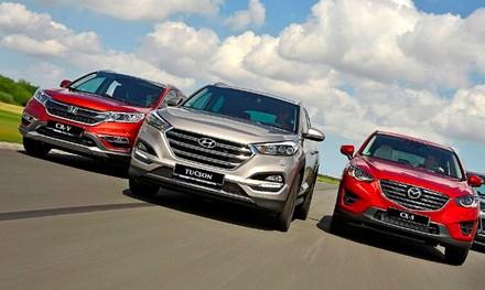 So sánh 'tam mã' Hyundai Tucson, Honda CR-V và Mazda CX5