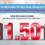 Khép lại năm 2016 với 1.334 xe bán ra trong tháng 12 và 11501 xe bán ra trong cả năm, mức doanh số tháng và năm cao nhất kể từ khi thành lập, Honda Ô tô Việt Nam đã làm nên những kỷ lục mới. Như vậy, 2016 là năm thứ 4 liên tiếp Honda Ô tô Việt Nam tạo nên cột mốc kỷ lục về doanh số bán theo năm. Đặc biệt đây cũng là năm đánh dấu sự tăng trưởng mạnh của Honda Ô tô Việt Nam với mức 38% so với tốc độ tăng trưởng 27% của toàn thị trường, cùng với đó là mức tăng 0,5% thị phần xe du lịch (tính đến hết tháng 11 năm 2016), thương hiệu Ôtô Honda đang ngày càng lớn mạnh và khẳng định chỗ đứng vững chắc trong lòng khách hàng Việt Nam. Honda Việt Nam đạt doanh số kỷ lục trong năm 2016 Không chỉ vậy, số lượt khách tới hệ thống đại lý Honda Ô tô làm dịch vụ trong năm 2016 đã tăng 31% so với năm 2015, đạt mức kỷ lục gần 200.000 lượt. Năm 2016 cũng là năm ghi dấu mốc 2 năm liên tiếp Honda Việt Nam vinh dự đạt được vị trí số 1 về chỉ số hài lòng dành cho dịch vụ sau bán hàng theo khảo sát của tổ chức J.D. Power Asia Pacific năm 2016. Trong năm, Honda Việt Nam đã mang đến các phiên bản/đời xe mới nhất của tất cả các dòng xe trong danh mục sản phẩm và đã nhận được sự đánh giá cao của khách hàng nhờ phong cách thiết kế thể thao, hiện đại - công nghệ tiên tiến - vận hành vượt trội - tiết kiệm nhiên liệu và an toàn tối ưu. Honda City 2016 Trong năm vừa qua, Honda City 2016 - phiên bản mới nhất của thế hệ thứ tư đã vinh dự nhận được Giải thưởng là mẫu xe an toàn 5 sao hợp túi tiền nhất tại Việt Nam trao bởi Ủy ban đánh giá xe Đông Nam Á - ASEAN NCAP. Với tổng doanh số bán cả năm lên tới 5780 xe, Honda City đạt mức tăng trưởng tốt nhất trong phân khúc (81% so với năm 2015) và trở thành mẫu xe bán chạy nhất năm 2016 của Honda Việt Nam. Honda CR-V Honda CR-V thế hệ thứ 4 với những thay đổi toàn diện cùng với sự ra mắt của Honda CR-V 2.4 phiên bản cao cấp vào tháng 4/2016 đã khép lại một năm thành công với 5101 xe được bán ra, tăng trưởng 13 % so với năm 2015 và tiếp tục khẳng định được sức h