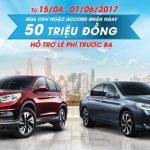 Honda CR-V và Honda Accord được ưu đãi lớn tháng 5